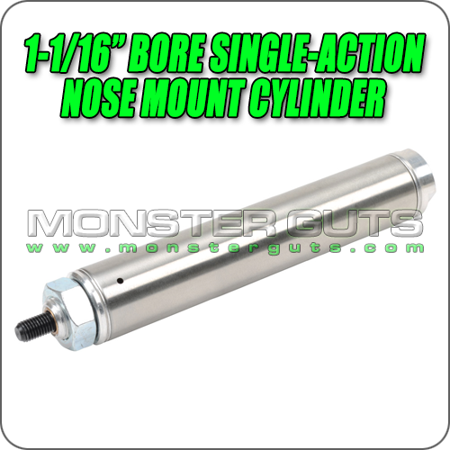 """1-1/16"""" Bore Single-Action Nose Mount Cylinder"""