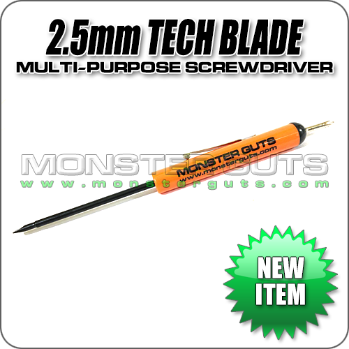 2.5mm Tech Blade w/ Phillips Top Screwdriver