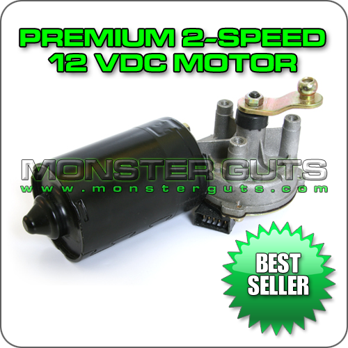 Premium 2-Speed 12VDC Wiper Motor