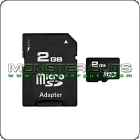 2GB Micro SD Card + Adapter
