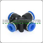 """Cross Union Connector Tube OD 1/4"""" Quick Release Fitting"""