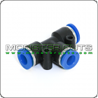 """Tee Union Connector Tube OD 1/4"""" Quick Release Fitting"""