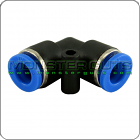 """Elbow Union Connector Tube OD 1/4"""" Quick Release Fitting"""