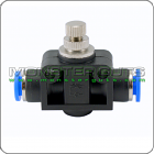 """In-Line Speed Flow Control Valve Tube OD 1/4"""" Quick Release"""