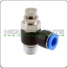 "Air Speed Control Valve Tube OD 1/4"" Quick Release Fitting"