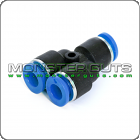 """Y Union Connector Tube OD 1/4"""" Quick Release Fitting"""