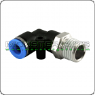 "Male Elbow Connector Tube OD 1/4"" Quick Release Fitting"