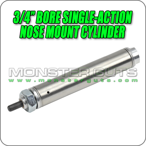 """3/4"""" Bore Single-Action Nose Mount Cylinder"""