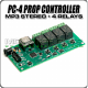 PC-4 MP3 Sound 4-Relay Prop Controller