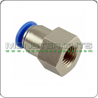"Straight Connector Tube OD 1/4"" NPT 1/4"" Female"