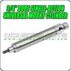 "3/4"" Bore Single-Action Universal Mount Cylinder"
